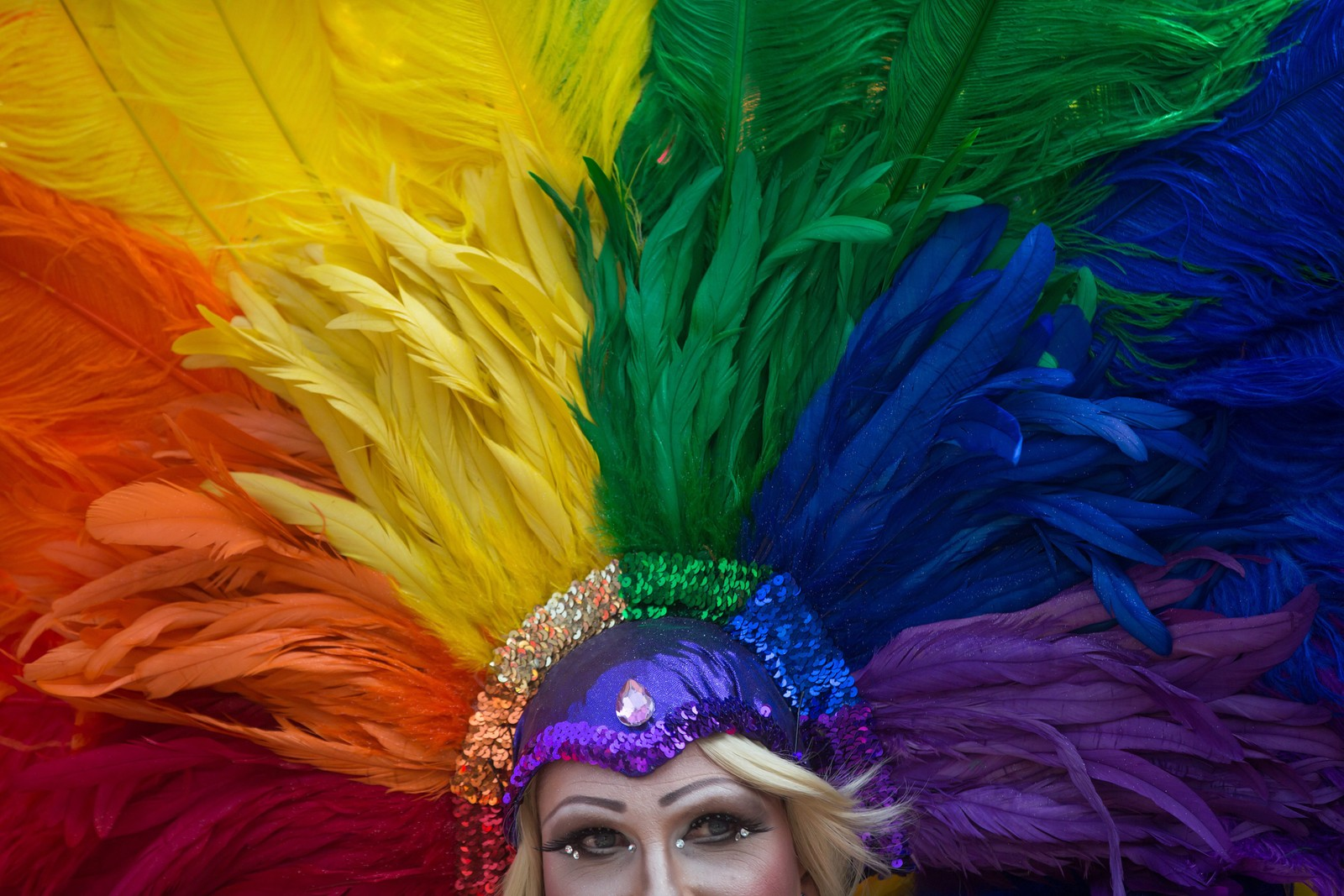 """Miss Lola"" fra Long Beach, California fotografert på Vancouver Pride Parade i Vancouver, Canada."