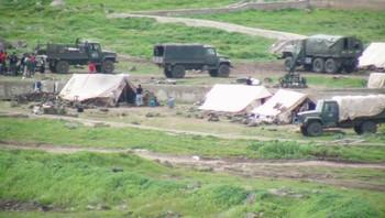 Syrisk militærleir i nærheten av Homs