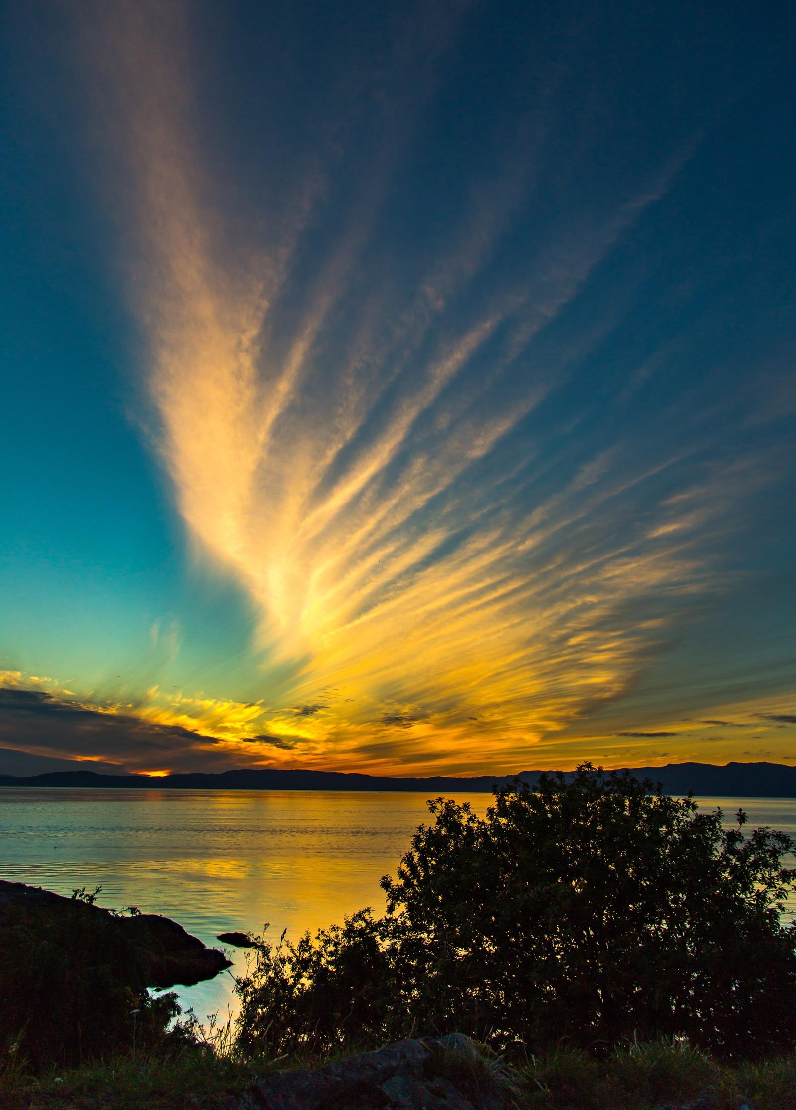 Solnedgang i Ringvebukta