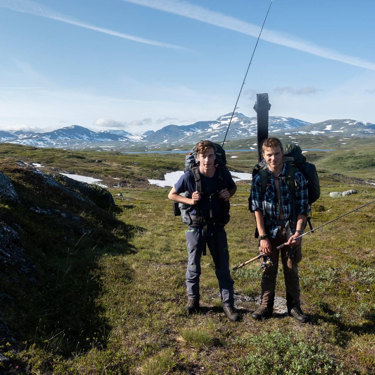 Første dag på etappen gjennom Børgefjell nasjonalpark