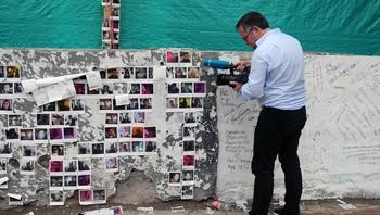 Stedet der en av de åtte bilbombene smalt i Tumaco