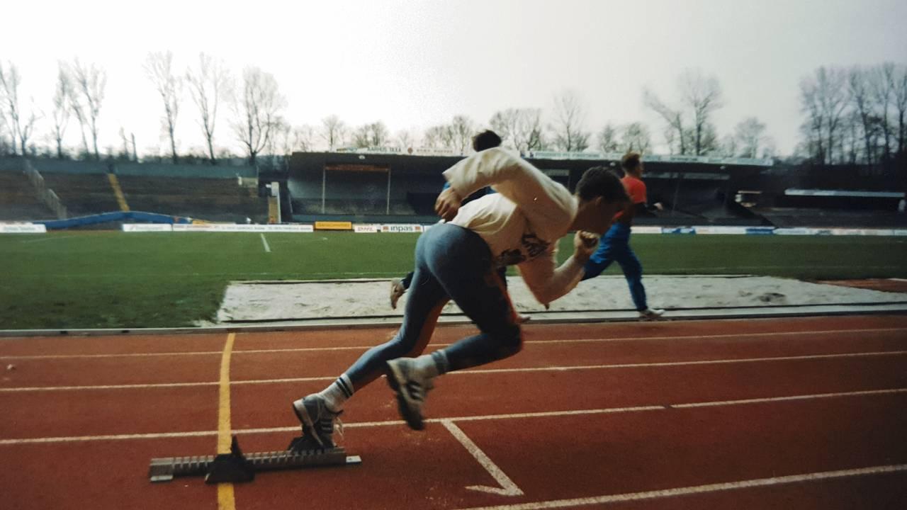 Frode Homb løper. I 1990 overlevde han dødsbrannen på Scandinavian Star.