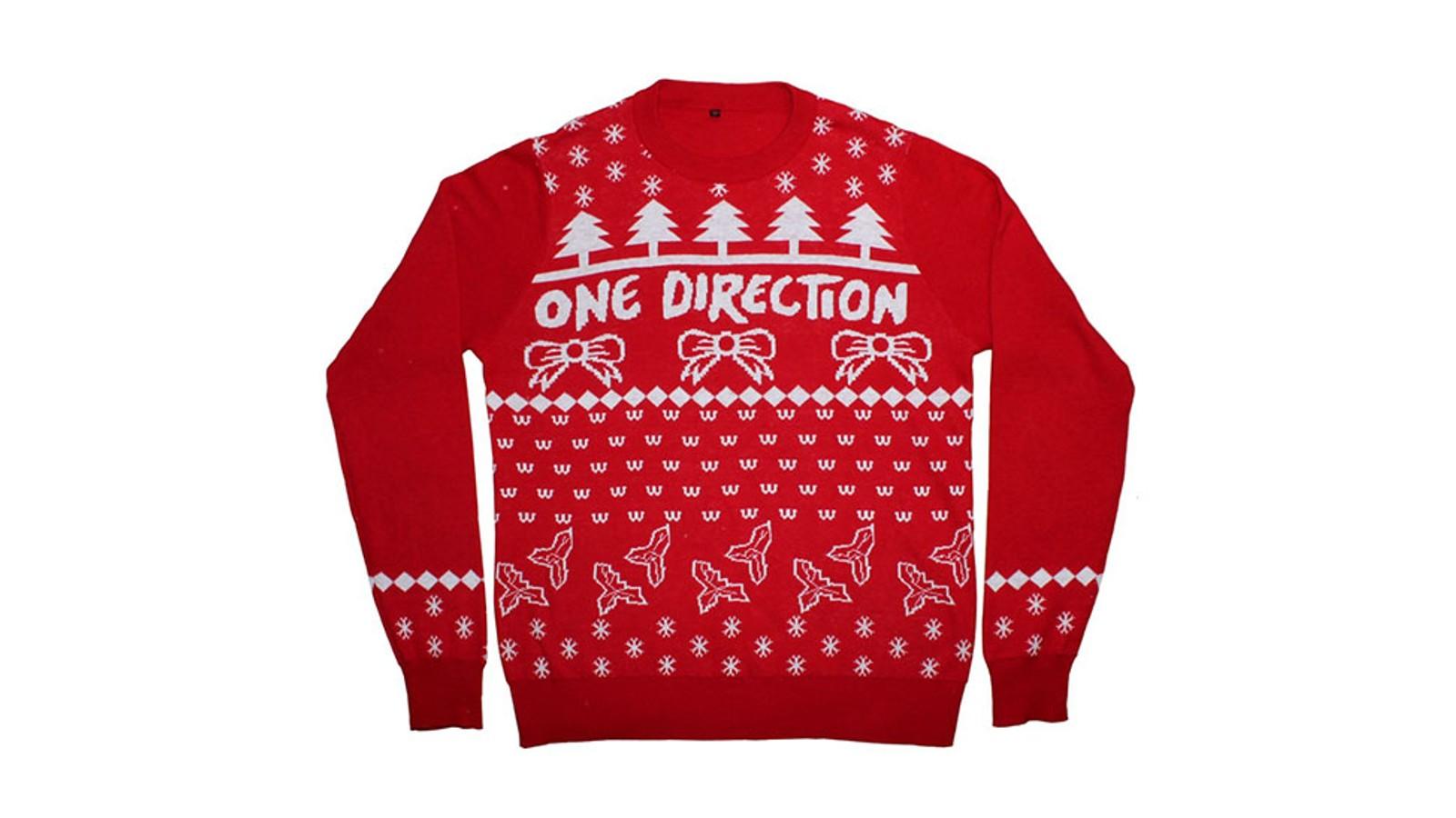 De fleste bandjulegenserne kommer fra rock- og heavy metalband, men om du liker musikken litt mykere, og genserene litt enklere, så kan denne genseren fra One Direction være noe for deg.