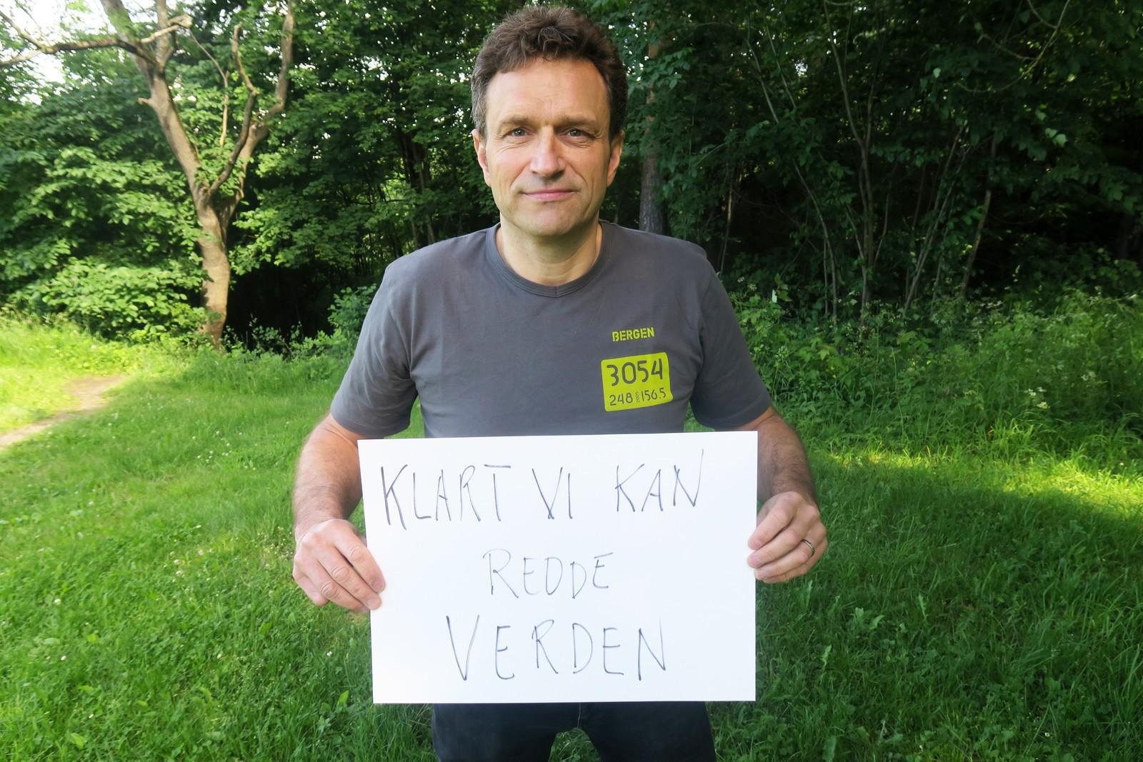 ARILD HERMSTAD (MDG): «Klart vi kan redde verden».