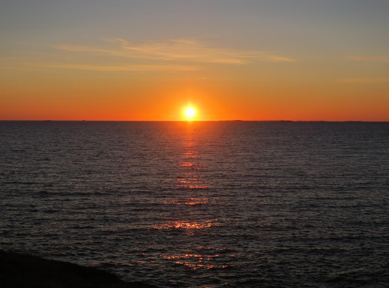 Solnedgangen sett fra Kvernevik i Stavanger.
