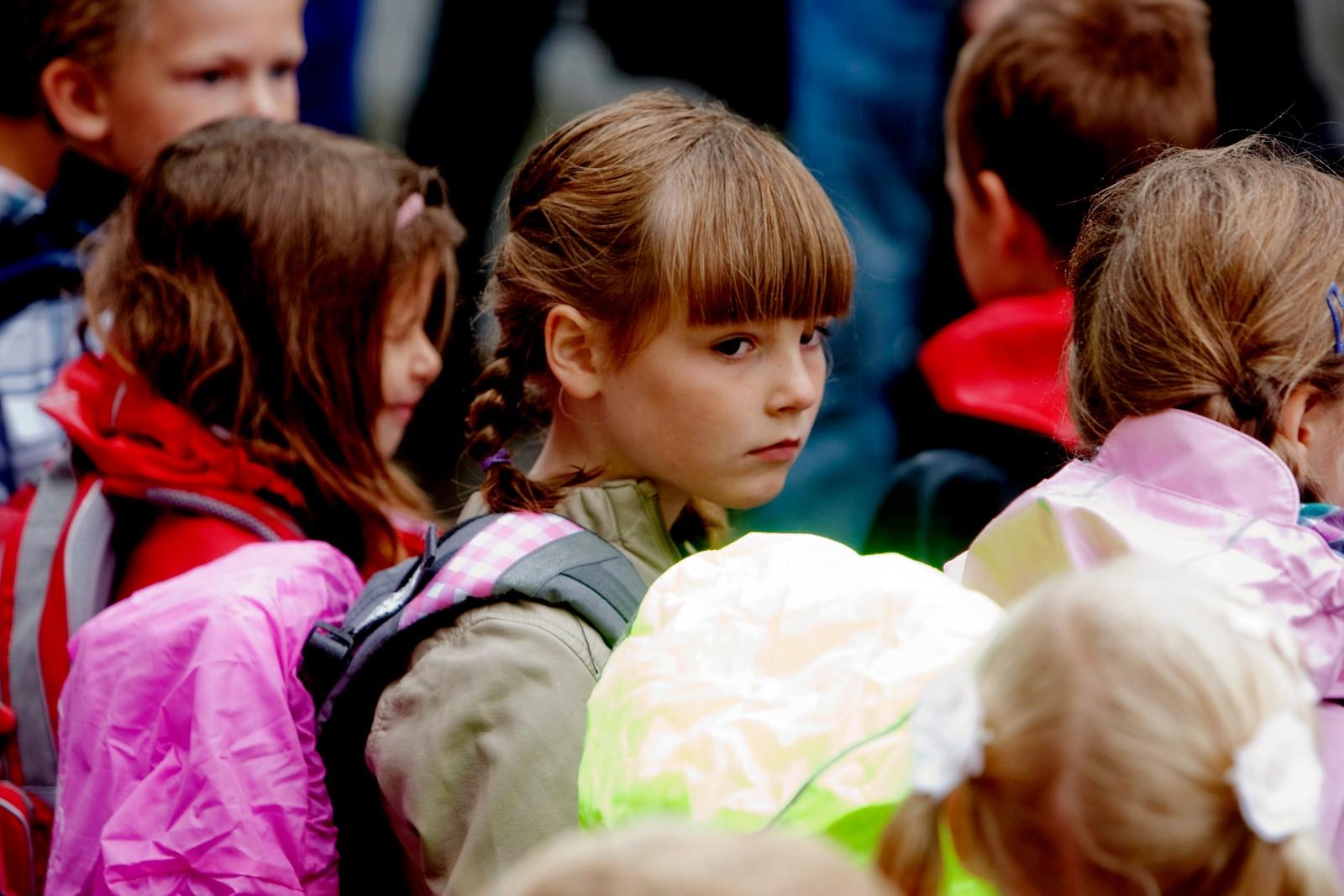 SKULEJENTE: 19. august 2010 blir arveprinsessa skulejente. Ho går dei fem fyrste åra på barnetrinnet på Jansløkka skole i Asker.