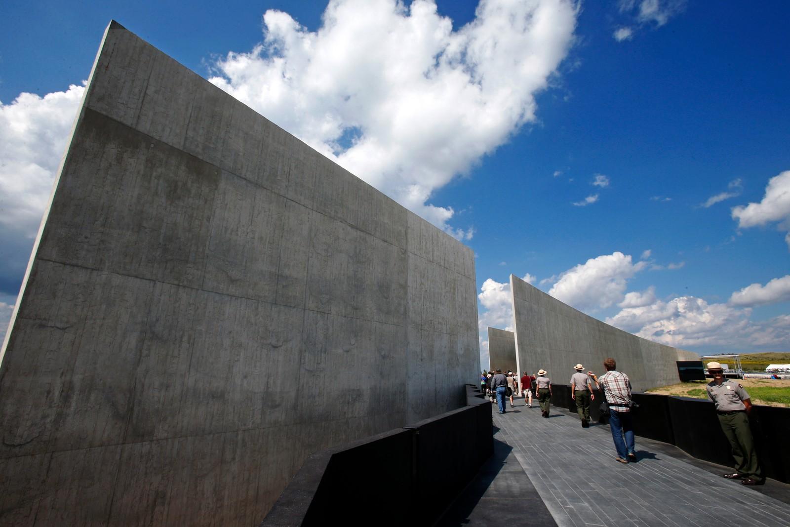 Minnesmerket etter flight 93, som styrta i forbindelse med terrorhandlingene 11. september 2001, åpna denne uka.