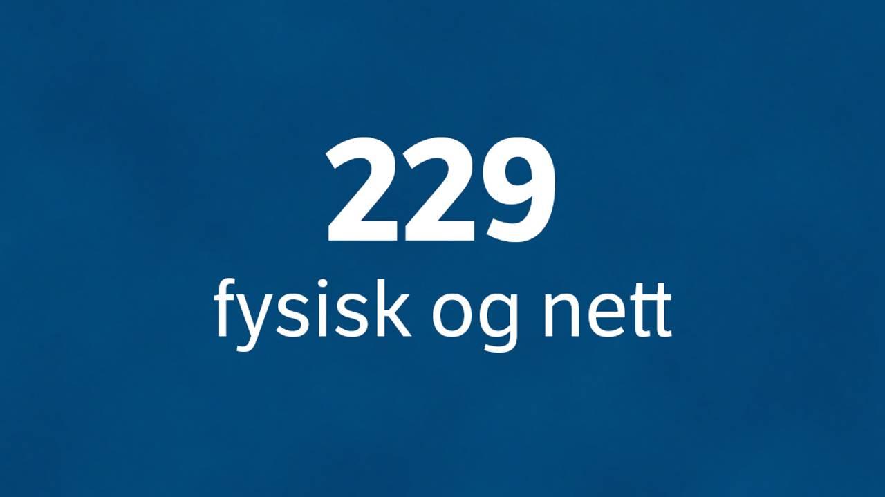 229 fysisk og nett