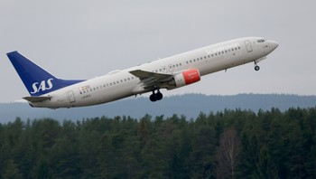 SAS fly letter fra Gardermoen