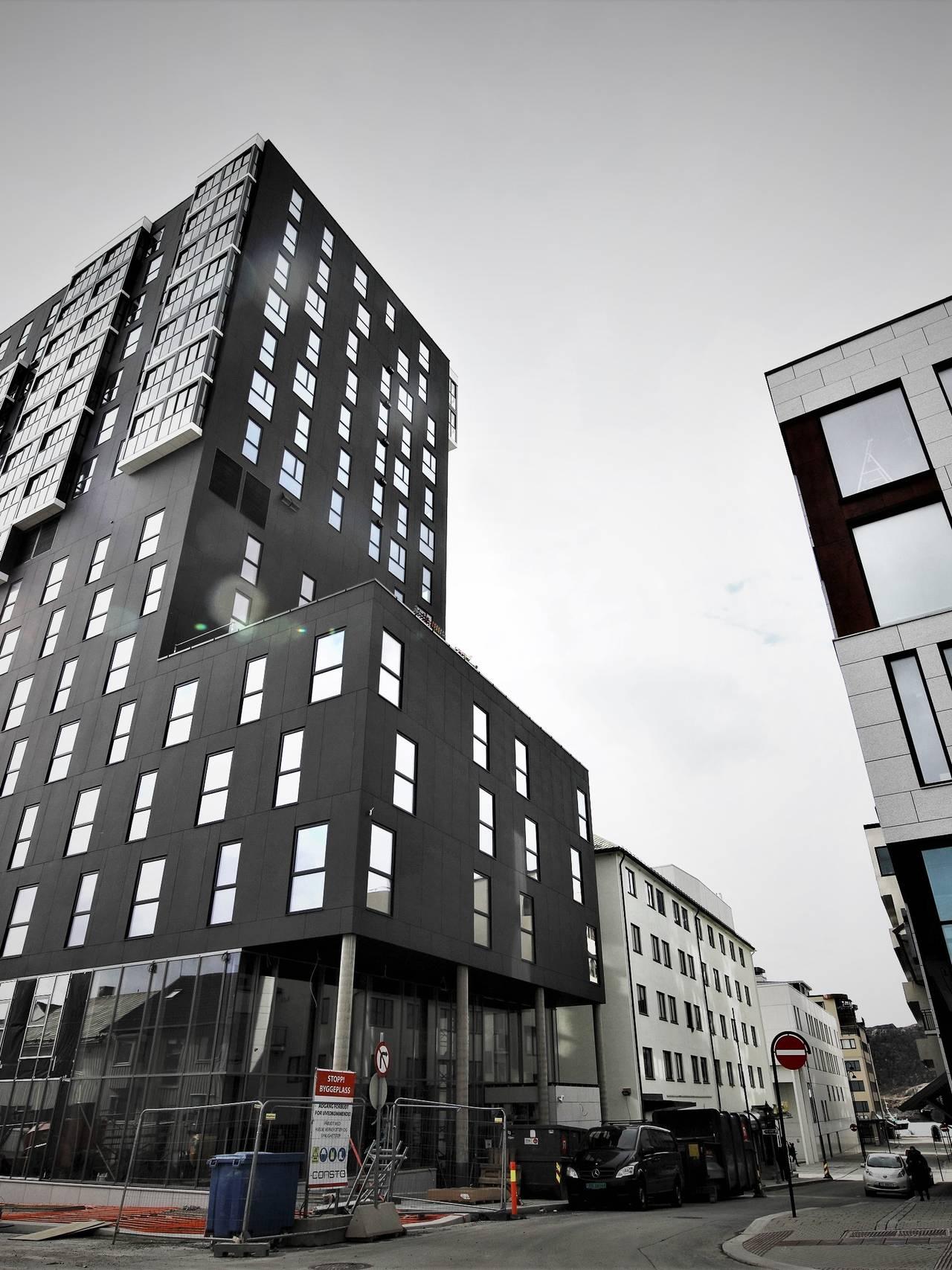 Høye bygg i Bodø sentrum.