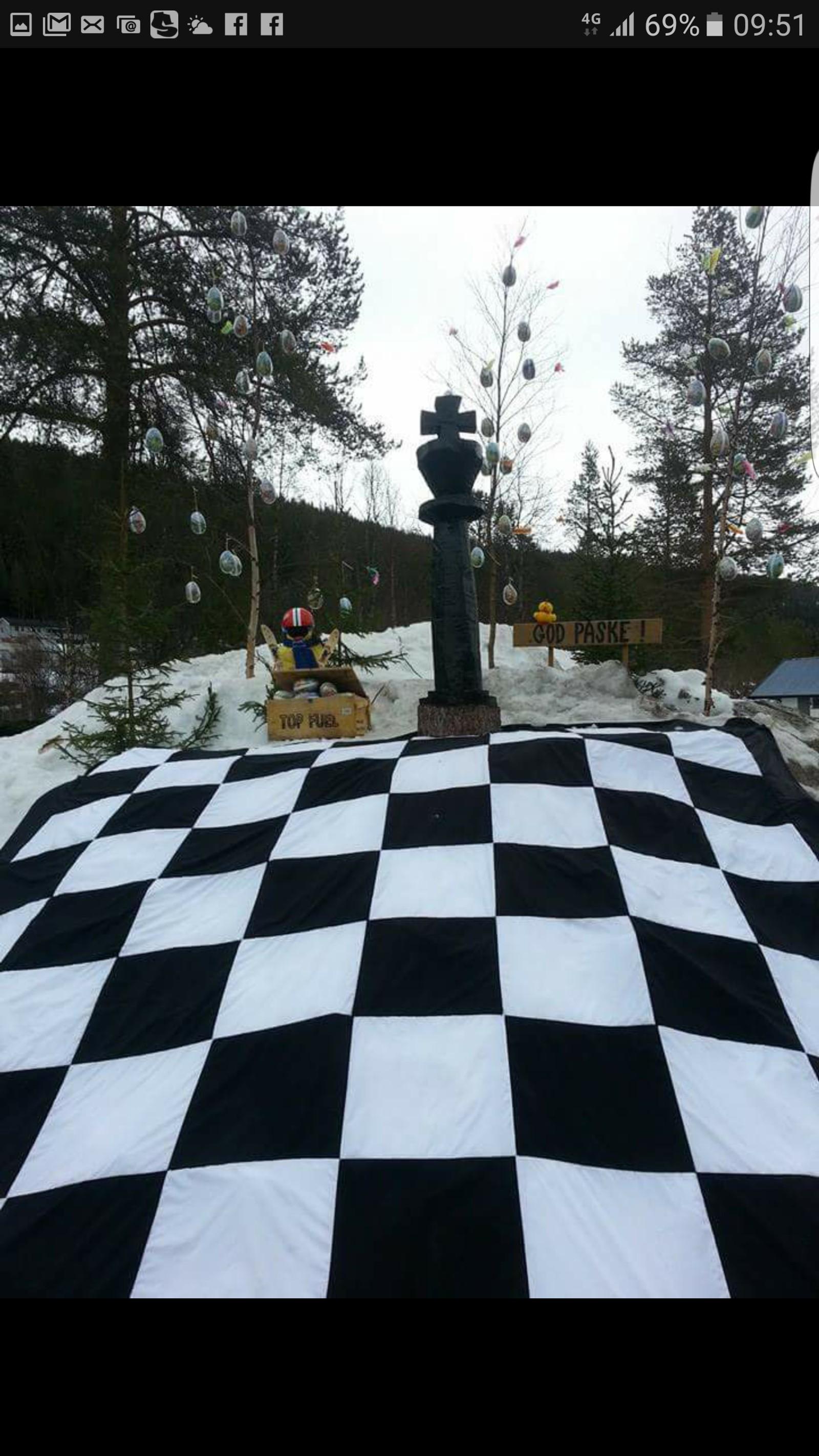 2014: Kongen på haugen - sjakkbrett.