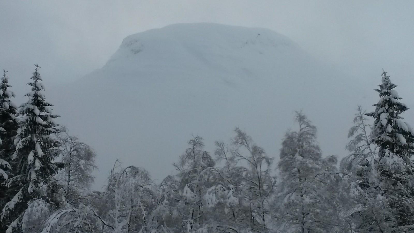 Nysnø i fjellet.