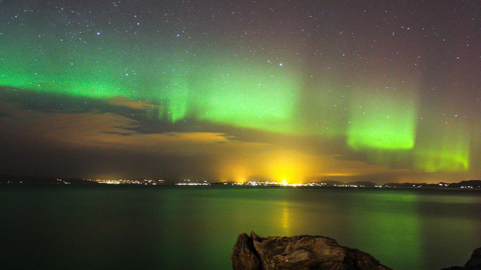Nordlys, sett fra Væreholmen