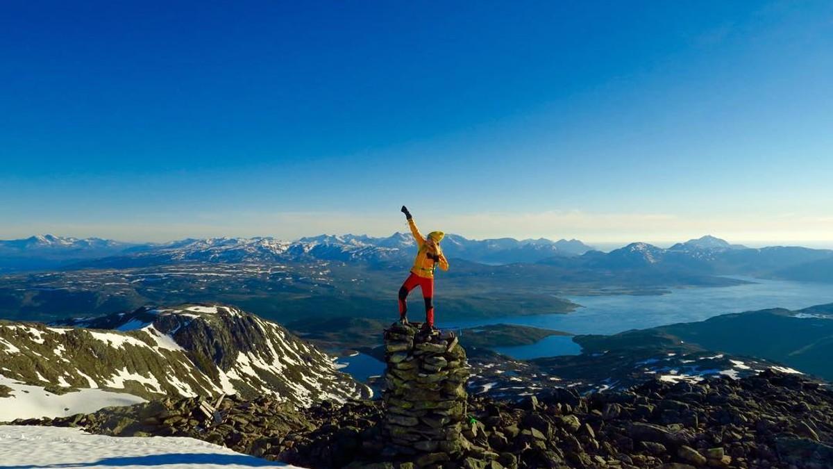 Tromsø i finvær - Foto: @pudderpiken/Instagram