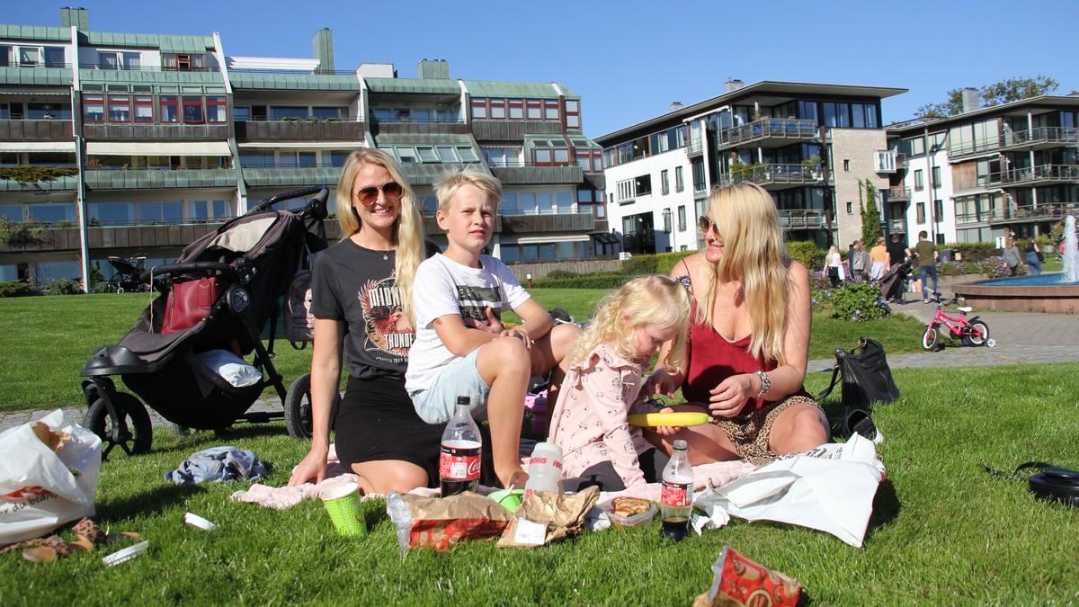 Tina Olsen med familie