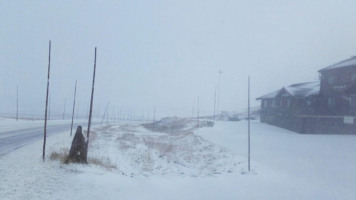 Snø på Hardangervidda ved Halne - Foto: Geirmund Tormodsgard