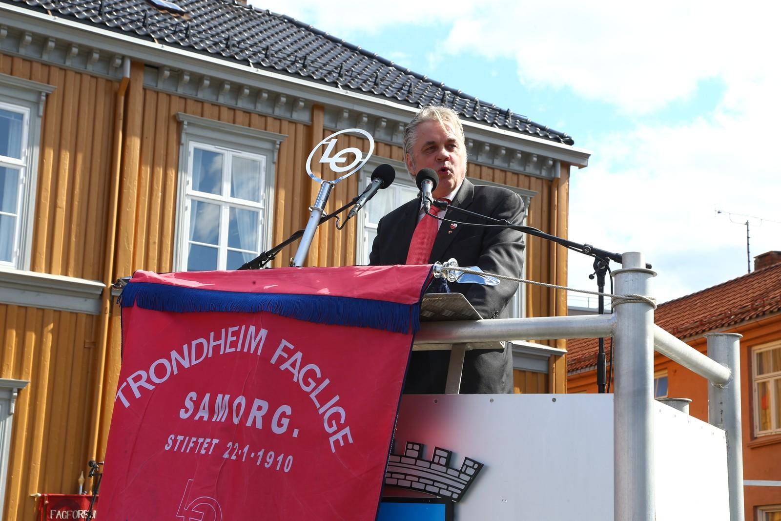 Leder i LO Trondheim John Peder Denstad