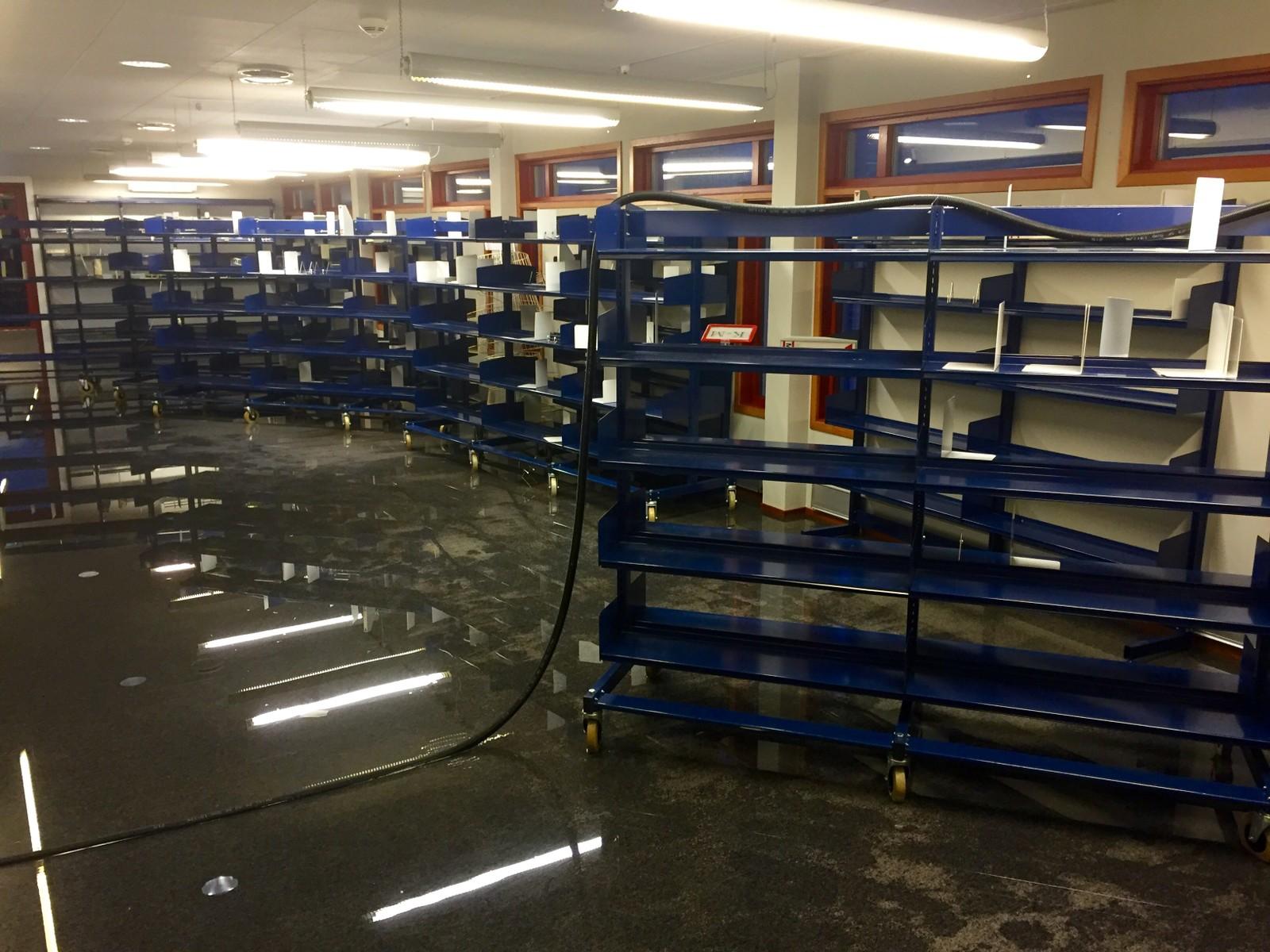 Oversvømmelse kulturhuset i Kvinesdal