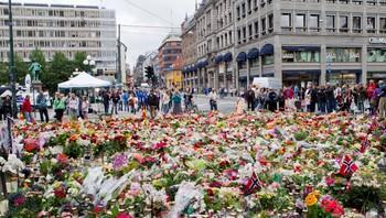sorg etter terrorangrepet, Oslo mandag