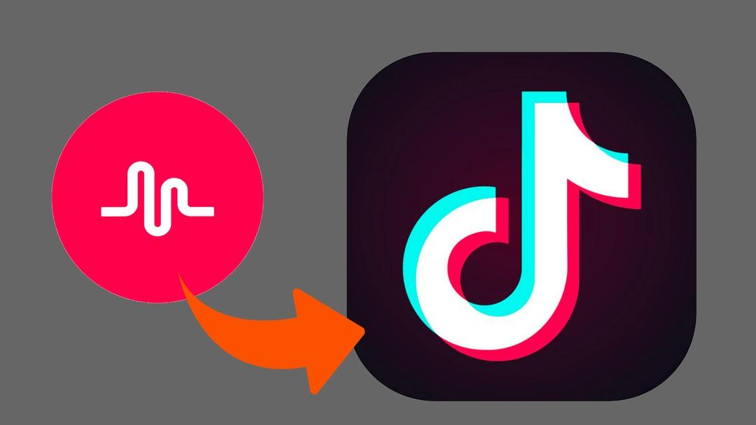 To logoer. Musical.ly og TikTok