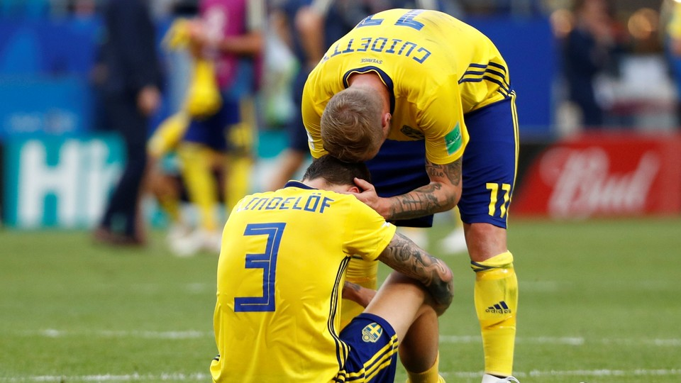 Fotball - VM: Høydepunkter kvartfinaler Sverige - England og Russland - Kroatia