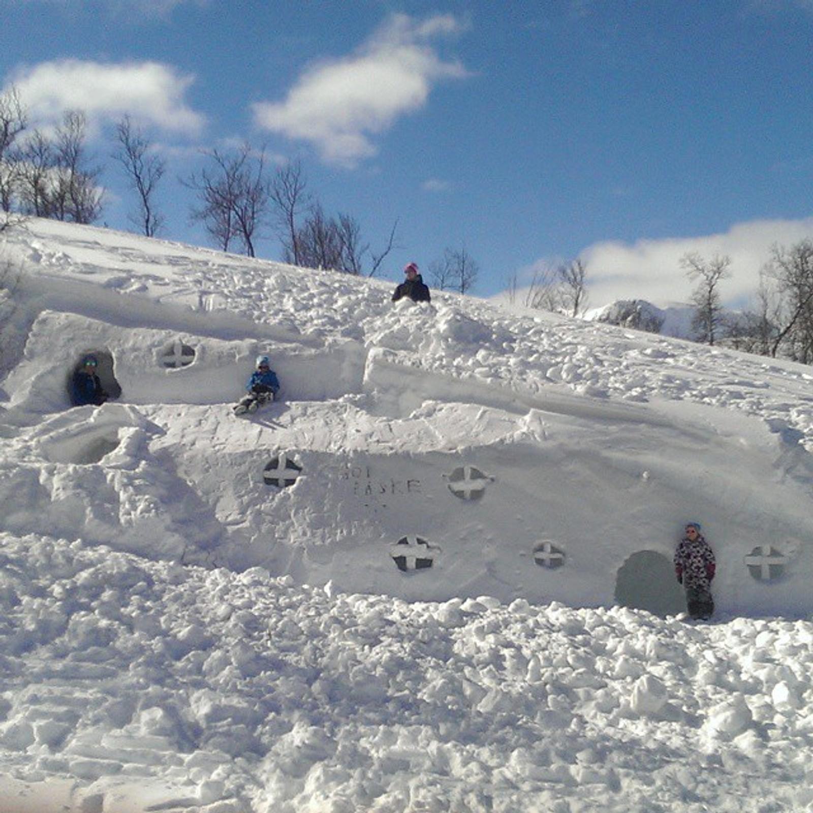 Snøhotell i Hallingskarvet