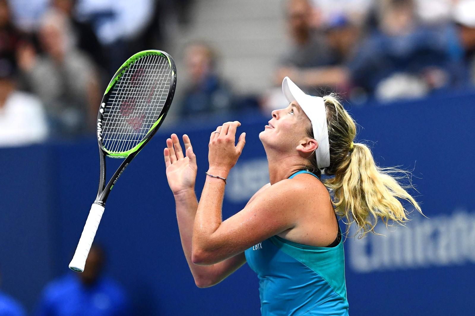 Vinnerglede. Amerikanske CoCo Vandeweghe har nettopp slått tsjekkiske Karolina Pliskova under U:S. Open i New York.