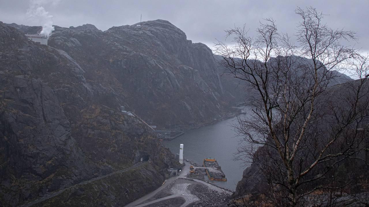 Totalbilde av Jøssingfjorden, sett fra fjellet