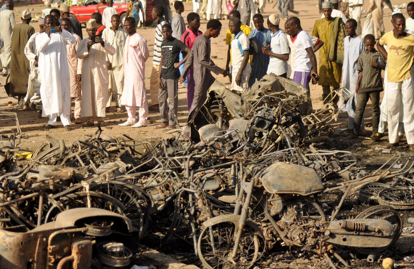Det var store øydeleggingar på både menneske og utstyr etter bombeangrepa.