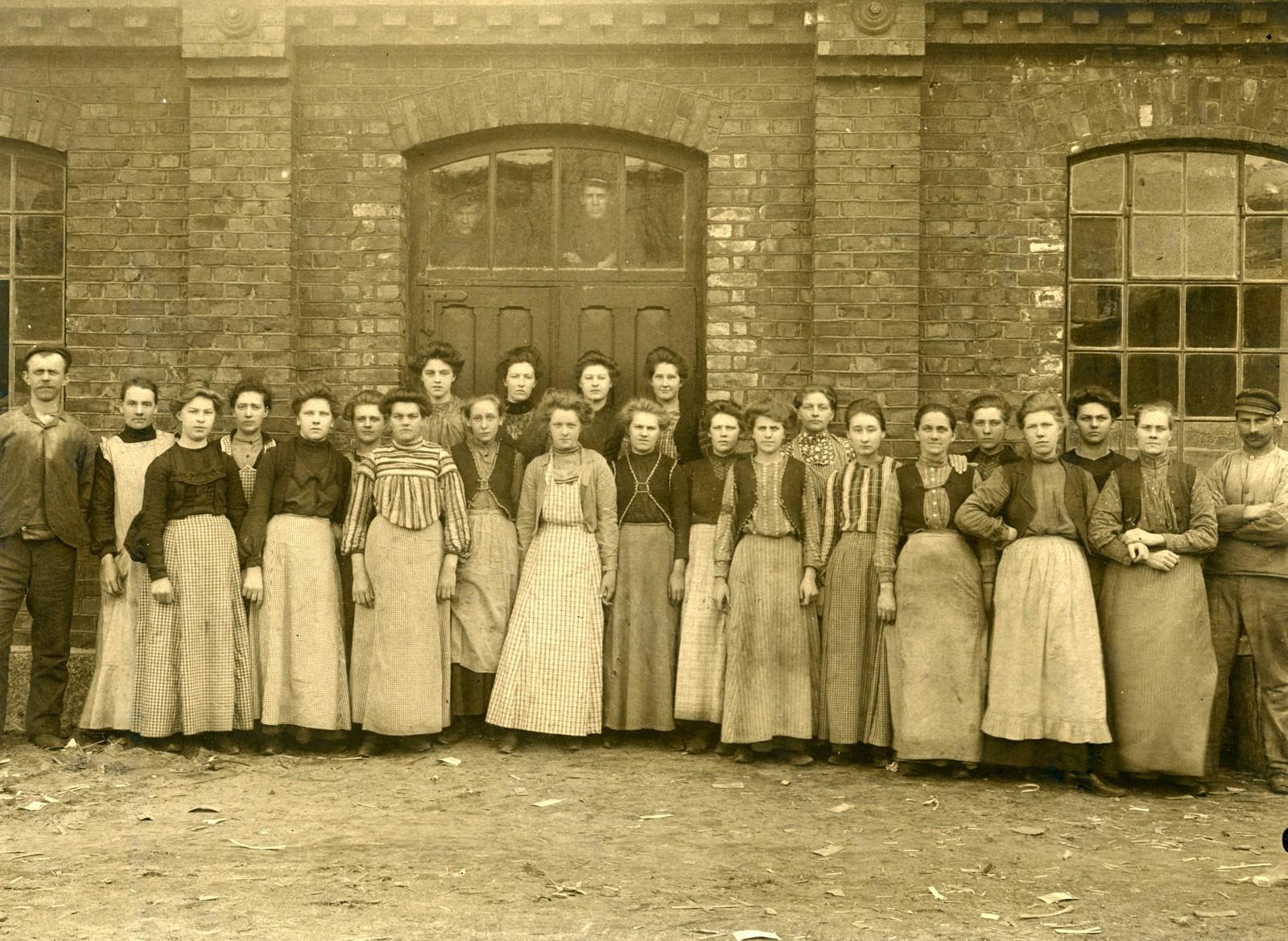 Kvinnelige arbeidere på Agnes