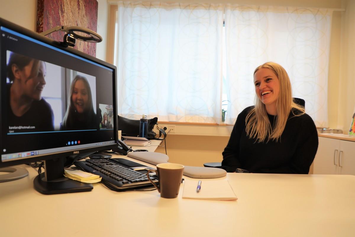 Skype tilbud til engstelige barn og unge