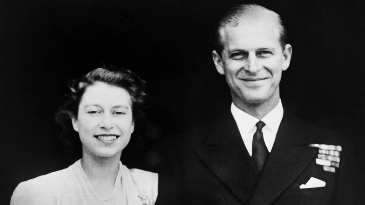 Prinsesse Elizabeth og Prins Phillip på forlovelsesdagen 11. juli 1947