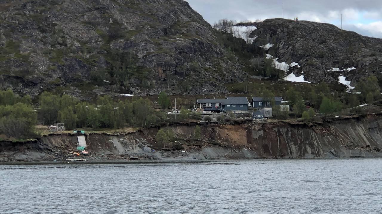Jordskred i Alta, ett hus står igjen