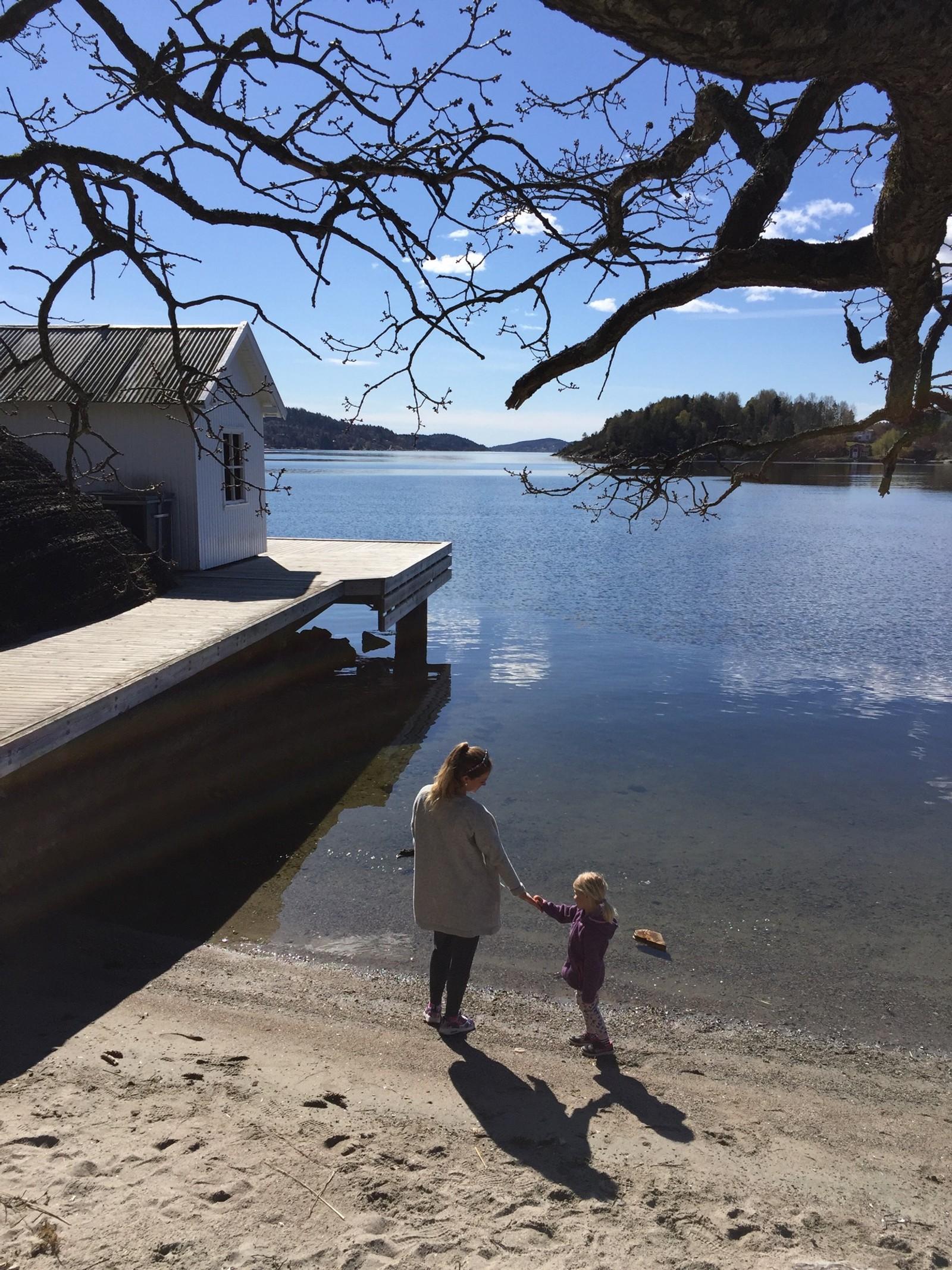 MULE VARDE I PORSGRUNN: Badeplassen er nominert fordi det er en hyggelig, liten strand, skriver en leser.