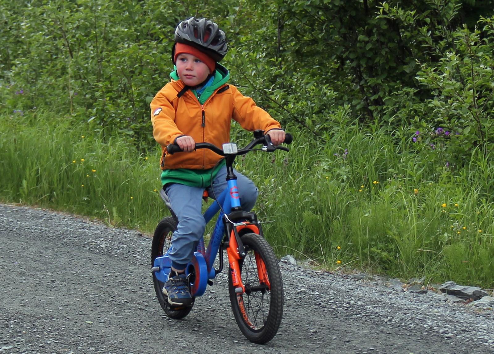 Min første sykkeltur