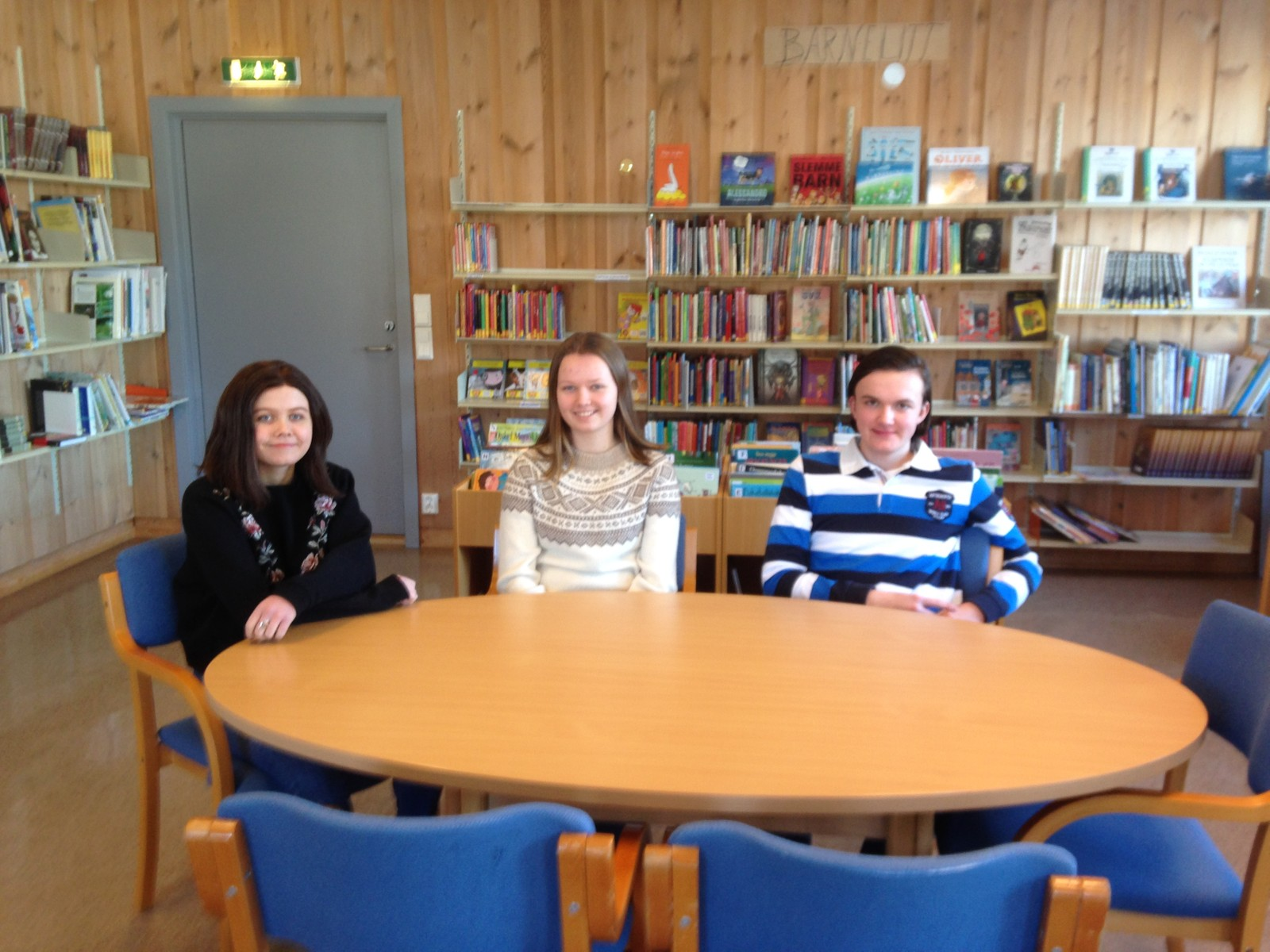 Tuva Marie Sørum , Mari Sevaldrud og Markus Sørum Struksnæs fra Bjoneroa skole