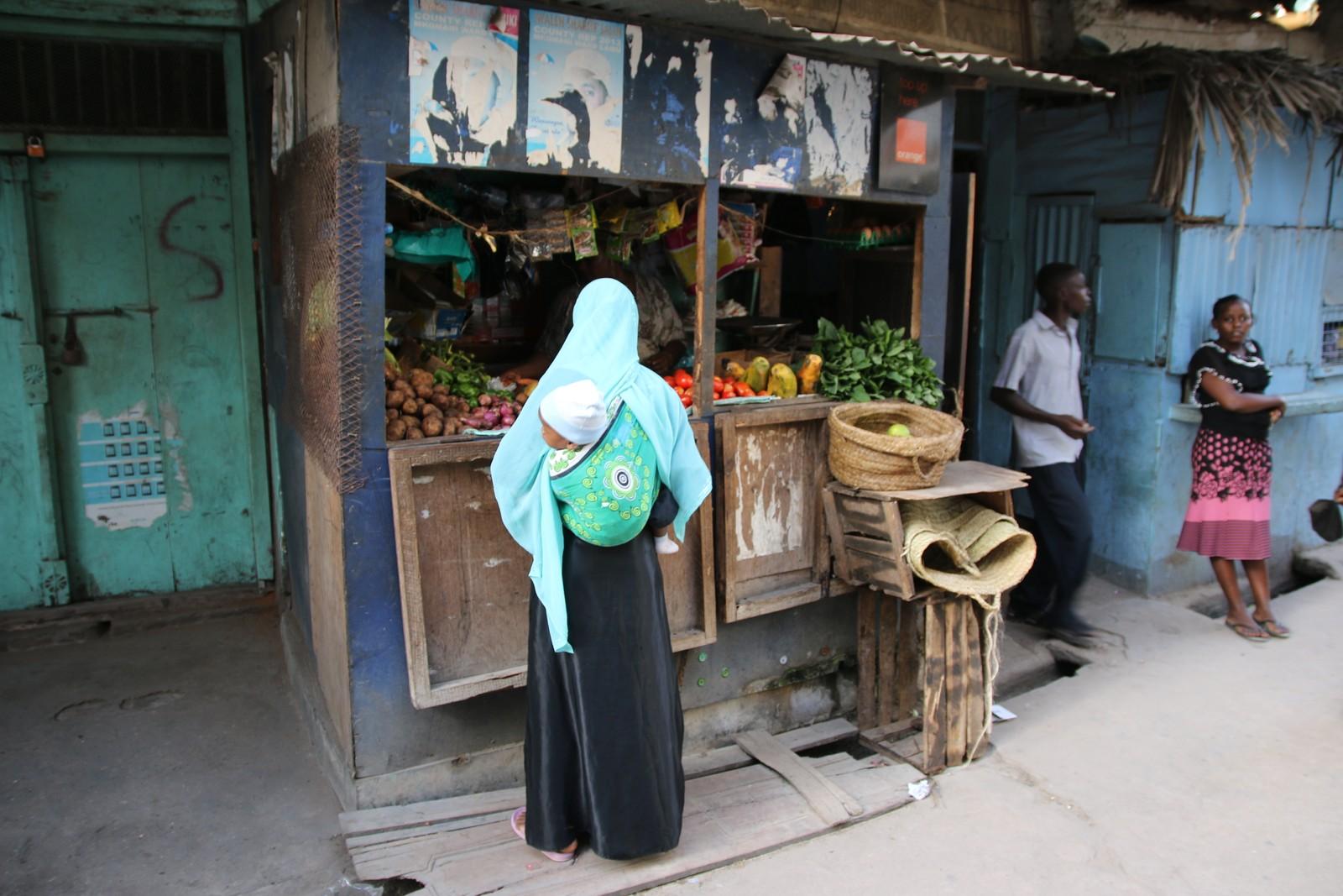 Gatebilde fra Lamu.