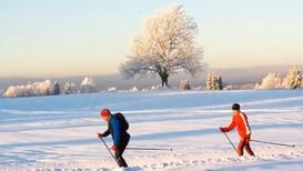 MYKJE SNØ: Det har kome mykje snø så langt i 2018, og det er fint å gå på ski i sola i vinterferien.