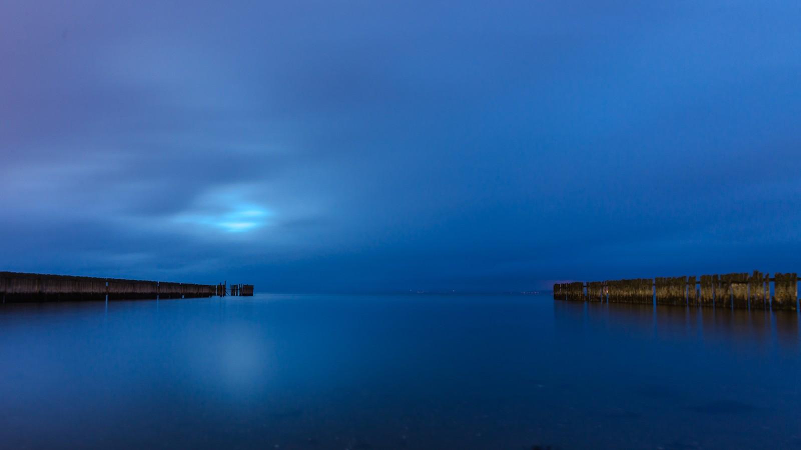 Kveldsstemning fra Hansbakkfjæra i Trondheim