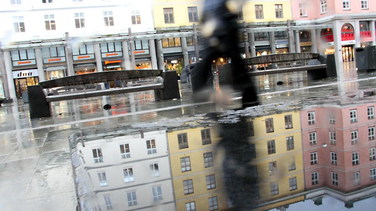 Regnvær i Bergen - Foto: Sindre Øye Helgheim/NRK
