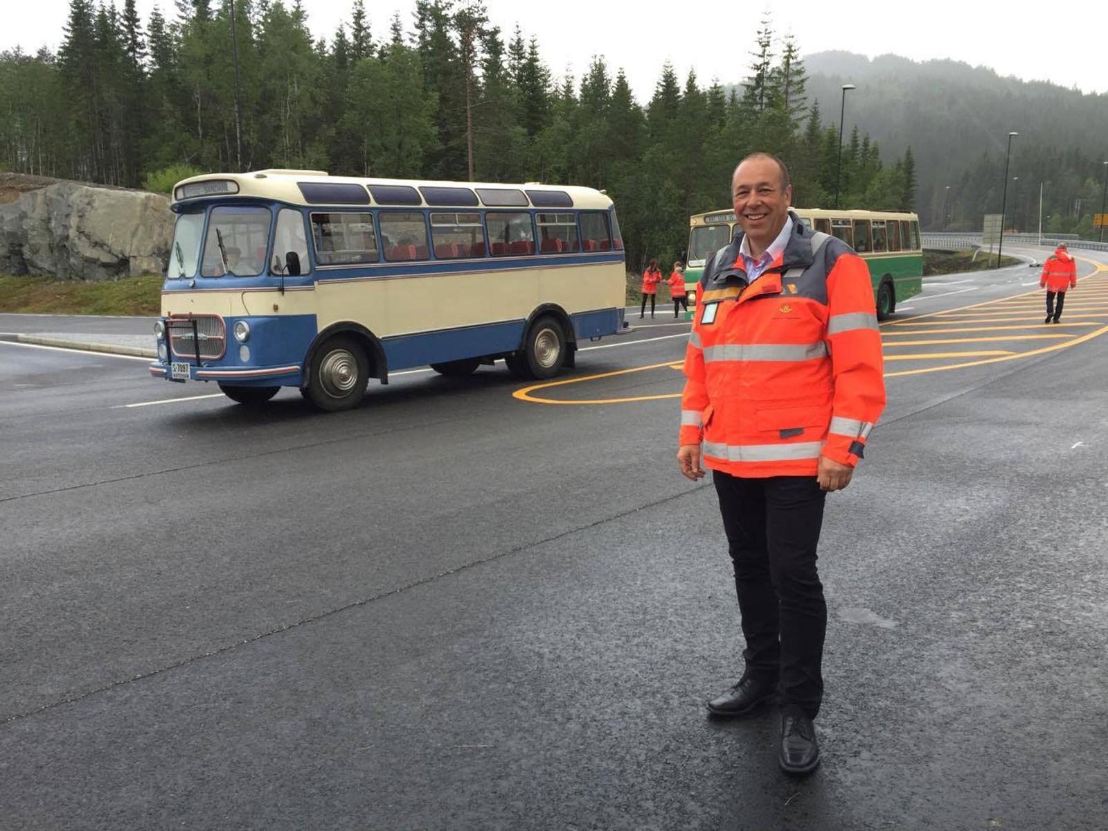 Vegvesenet sin prosjektleiar for utbygging av E-39 Lavik- Skei, Svein Reidar Dale gler seg til opninga.