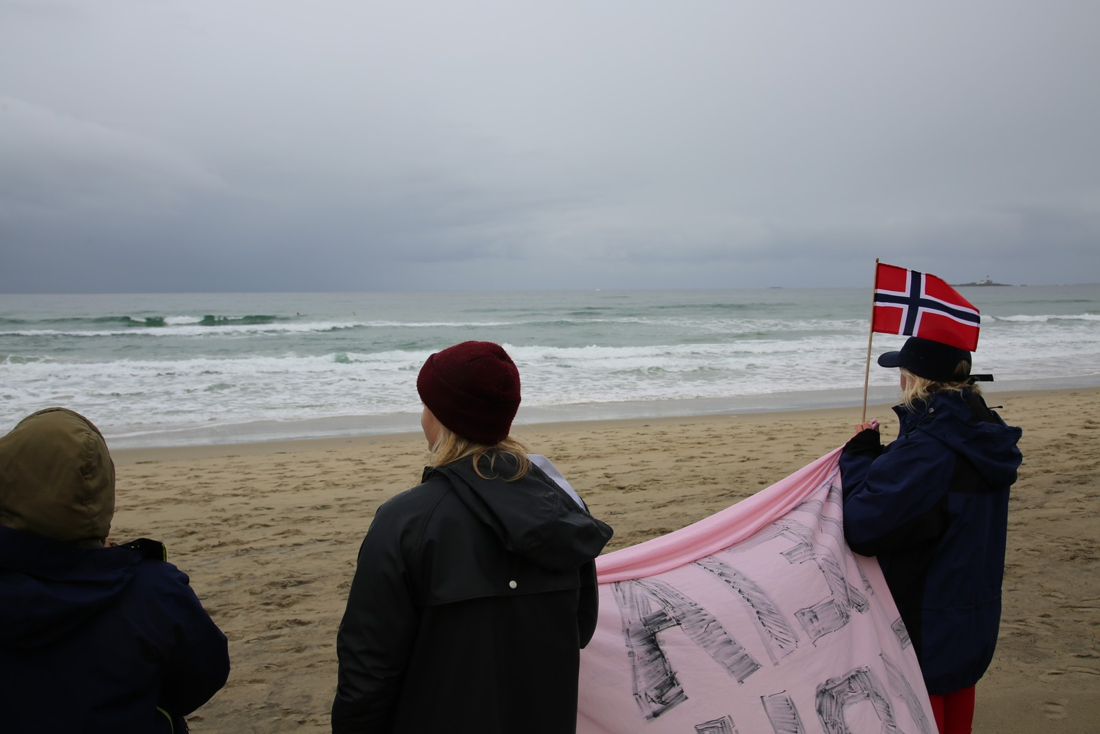 Flere norske fans hadde møtt opp for å følge deltakerne.