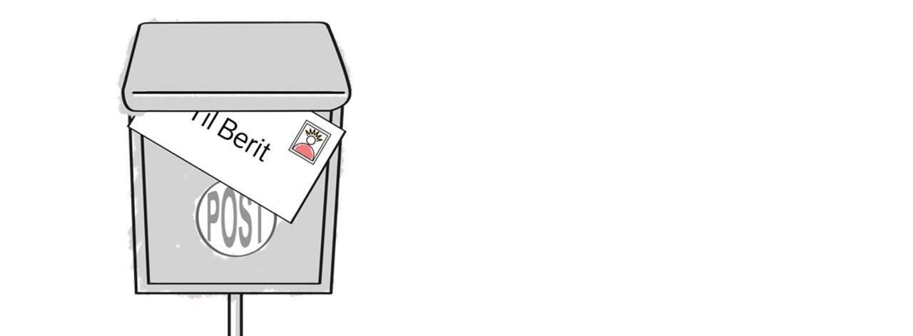 Postkassa til Berit