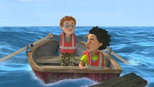 Georg og Mandy drar på skilpaddejakt