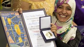 Tawakkul Karman mottar Nobels fredspris 2011