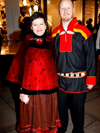 Helga Pedersen og mannen Erik Brenli