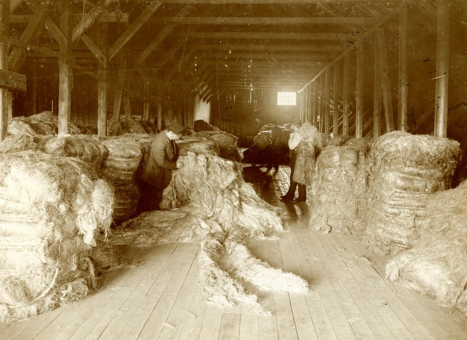 Hamplageret før brannen 1910.
