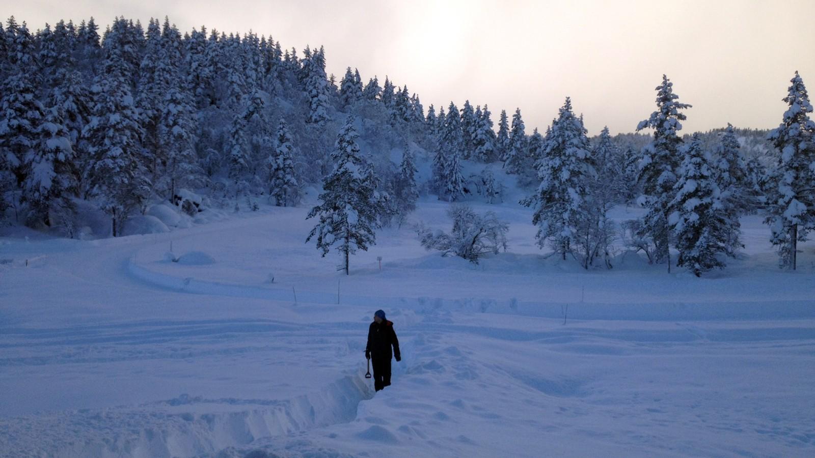 Vinter i Sirdal.