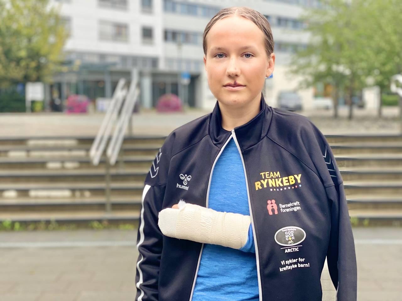Kristina Adolfsen (23) Svolvær. Hun lå nummer to i feltet. Hun husker ikke noe fra selve velten.