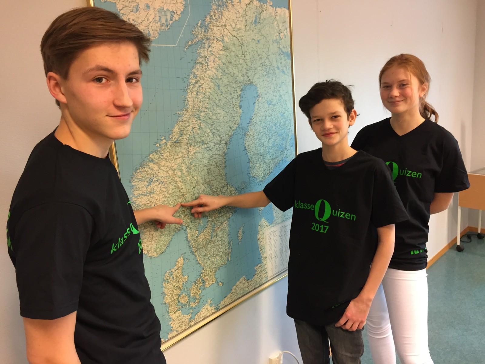 Henrik Ekra Hoff, Ådne Rolstad og Maren Schumann fra Brandbu ungdomsskole fikk 12 poeng.